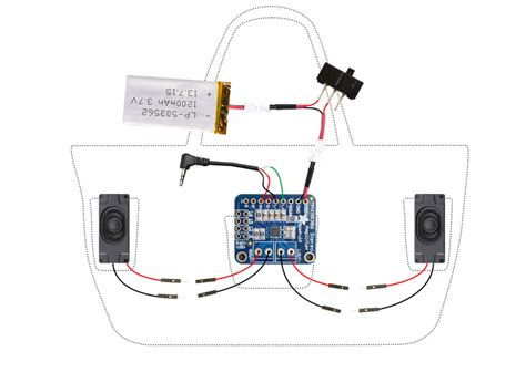 Portable Speaker Wiring Diagram by Circuit Diagram Boombox Bag With Audio And