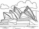 Coloring Landmarks Pages Opera Famous Landmark Sydney Around Australia Building Tower Drawings Historical Sidney Drawing Printable Statue Cn Colouring Site sketch template