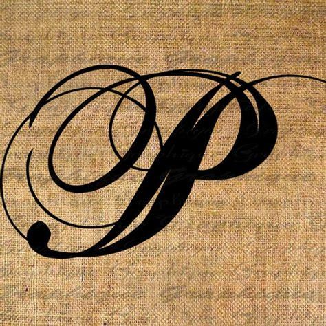 items similar  monogram initial letter p digital collage sheet burlap digital