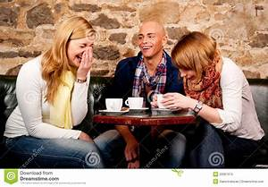Happy People Drinking Coffee Stock Images - Image: 22067974