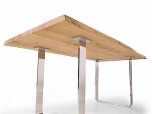 Esstisch 200x100 Ausziehbar : zweigelt esstisch baumkantentisch 200x100 cm eiche ~ Frokenaadalensverden.com Haus und Dekorationen