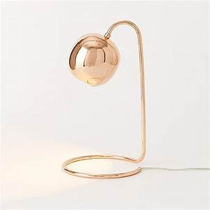 Lampe Rose Gold : rose gold with a slender profile and an open base that lets you use the desk space twice the ~ Teatrodelosmanantiales.com Idées de Décoration