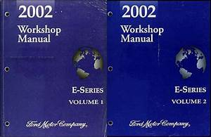2002 Ford Econoline Shop Manual Set Van E150 E250 E350