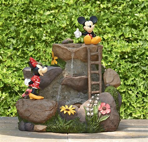 mickey mouse garden decor disney mouse cascading playful outdoor decor at