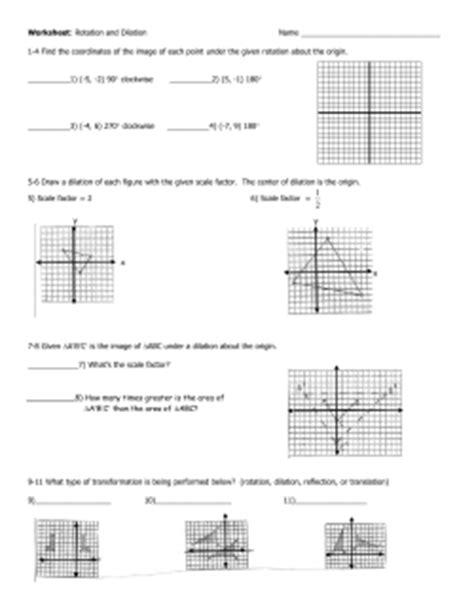 Math Dilation Worksheet  Dilations And Scale Factors Worksheetsgeometry Worksheet Pinterest