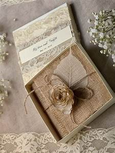 lace burlap wedding invitations 10 vintage wedding With rustic wedding invitations in a box