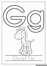 Coloring Pages Alphabet Letter Printable Worksheets Giraffe Letters раскраски Tracing печати для Englishforkidz буквами принцесса алфавита English Fox Crafts Egg sketch template