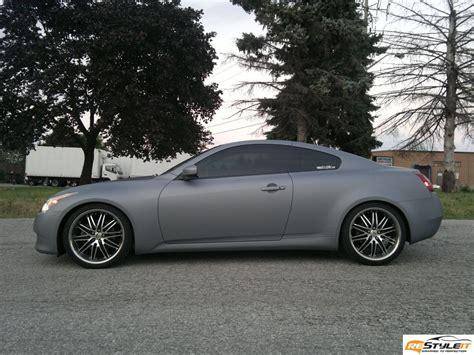 matte grey metallic infiniti  vehicle customization