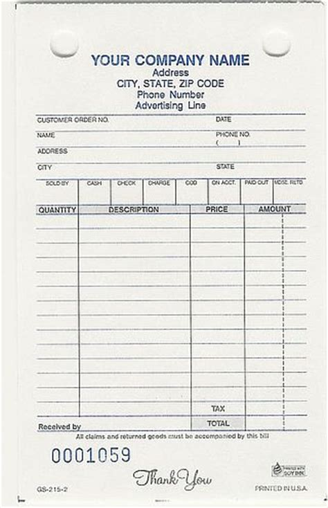 locksmith invoice forms forms