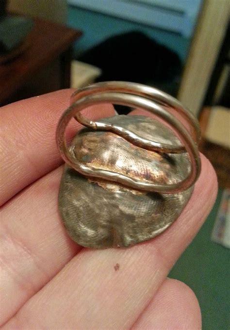 love  art jewelry white copper clay   medium