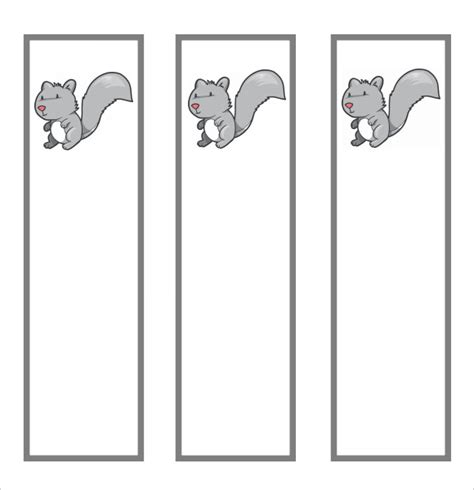 printable bookmark template 7 sle blank bookmarks sle templates