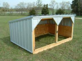 Loafing Shed Plans Goats by Mini Economy Sheds