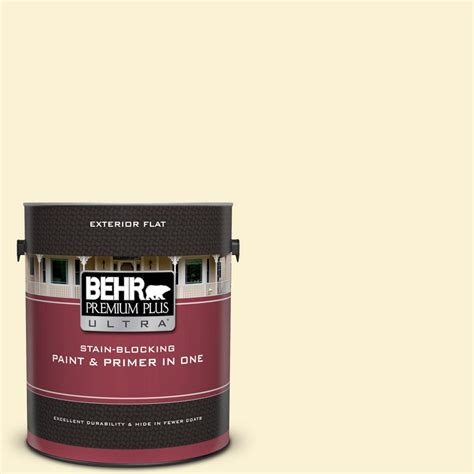 behr premium plus ultra 1 gal 350a 2 vanilla milkshake flat exterior paint and primer in one