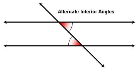 alternate interior angles parallel lines and transversal angles