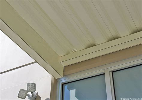 imperial marquee awning   shaped panels