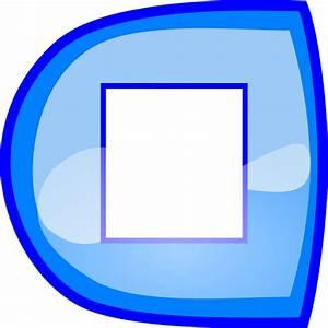Blue Stop Button Clip Art at Clker.com - vector clip art ...