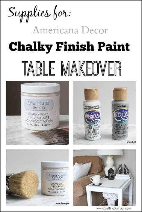 Americana Decor Chalky Finish Paint by Diy Chalk Paint Table Makeover Setting For Four