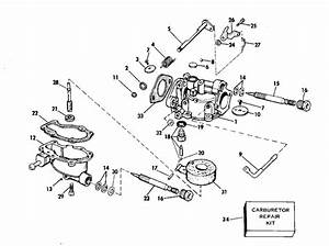 Johnson Carburetor Parts For 1975 4hp 4w75a Outboard Motor