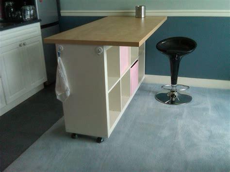 Ikea Desk Legs With Casters by Expedit Island Ikea Hackers Ikea Hackers