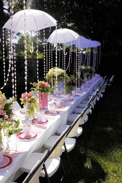 Deko Ideen Gartenparty by Gartenparty Deko Regenschirme Blumen Pretty Events