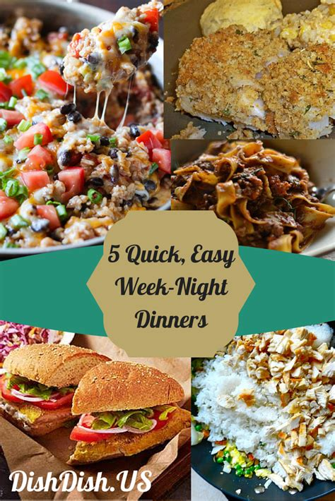 fast and easy dinner 5 quick easy week night dinners