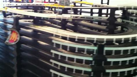 mega slot car track  nascar train youtube