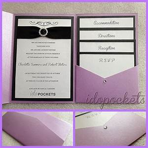 Pocket fold wedding invitations diy envelopes invite for How to make wedding invitations with pocket