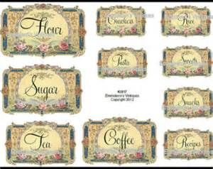 kitchen canister labels kitchen canisters etsy
