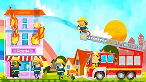 Kids Learn Safety | the rescue on the Fire truck ...