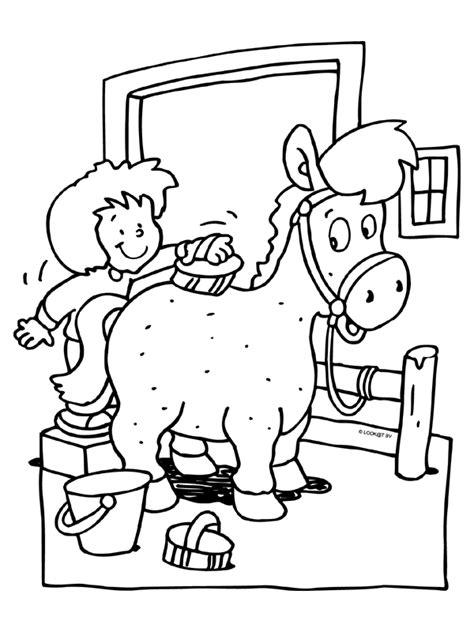 Paardrijden Kleurplaat by Kleurplaat Paard Places To Visit Kleurplaten Paard