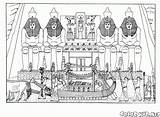 Colorkid Coloring Egypt Temple sketch template