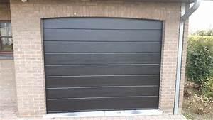 porte de garage sectionnelle a comines lille tournai With woodgrain porte garage