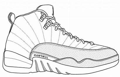 Coloring Shoe Shoes Pages Printable Running Athletic