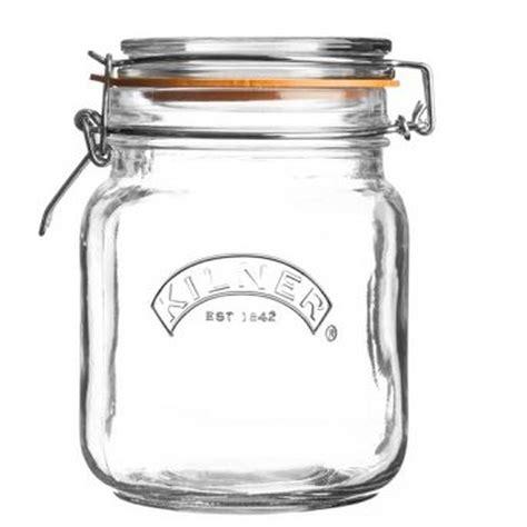pots en verre pour conserves bocal carr 233 1 l kilner
