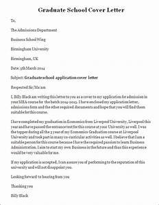 Sample Cover Letter Graduate School sample job
