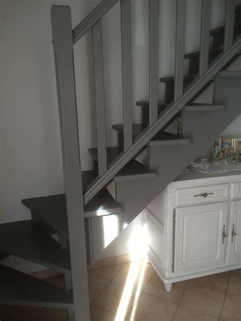 escalier bois blanc et gris r 233 alisations escalier en gris souris vitrolles