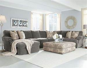 chelsea home bradley large sectional in light grey fabric With sectional sofa too big for living room