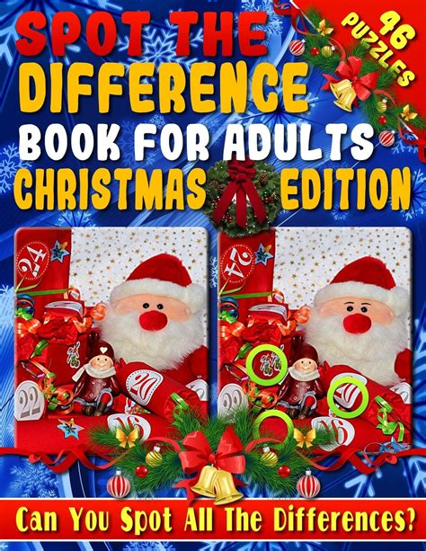 Spot The Difference Book For Adults Christmas Edition