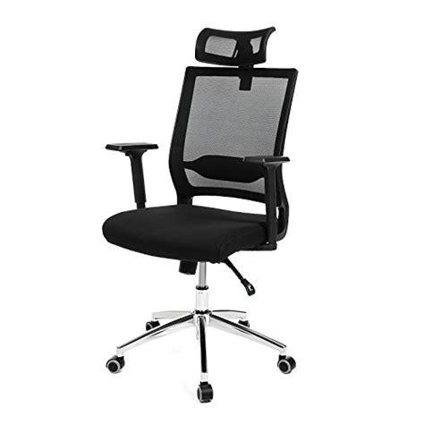 songmics fauteuil de bureau avec appui t 234 te accoudoirs