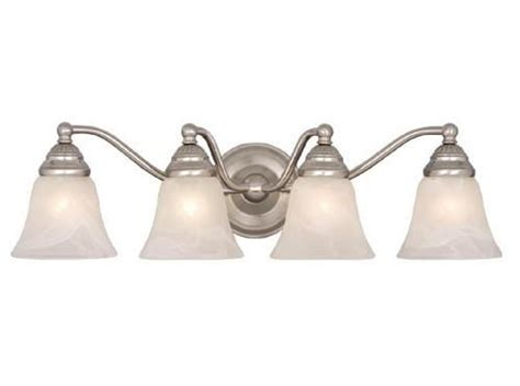 menards bathroom vanity lights standford 4 light 26 quot brushed nickel vanity light at