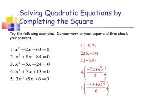 solve by completing the square worksheet pdf kidz activities