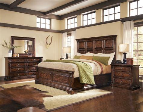 whiskey oak rustic inspired wooden panel bedroom set