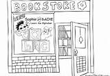 Bookstore Coloring Grocery Places Pages Town Uncategorized Template Sadie Gordon Rachel Aug Grade sketch template