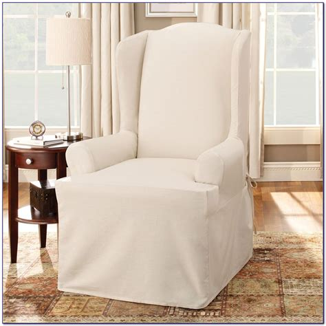pottery barn slipcover chair wingback chair slipcovers pottery barn chairs home