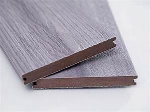 lot de 4 m2 lame de terrasse gris composite lambourdes With avis lame terrasse composite