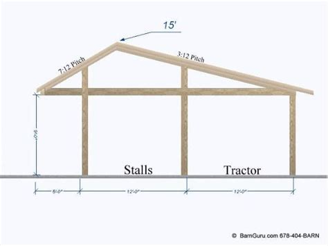run   stall horse barn lean  tractor shed