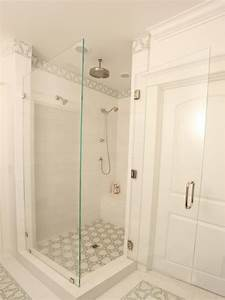 White, Transitional, Shower, Features, Frameless, Glass