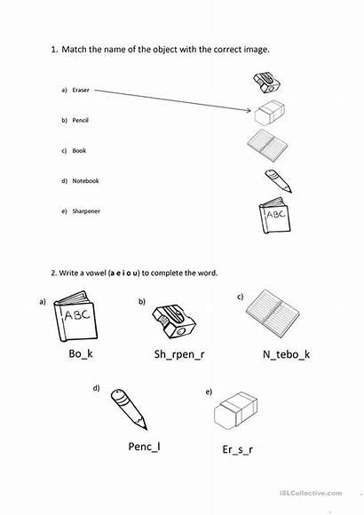 Supplies Worksheets Worksheet Esl English Printable Activities
