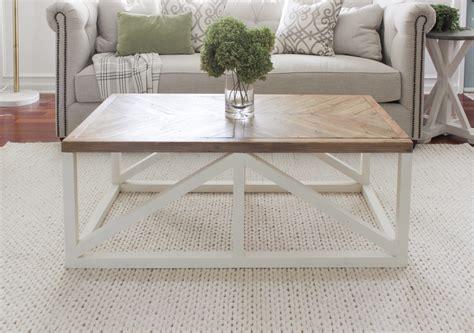 herringbone coffee table buildsomethingcom