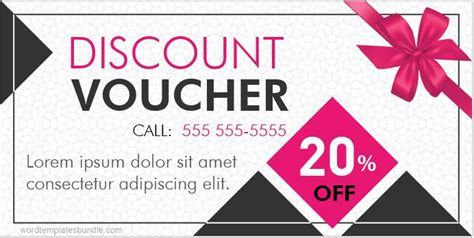 discount voucher templates  ms word formal word templates